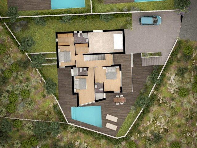Grundriss villa mit pool  Rogoznica, Dalmatien: Villa-Neubau direkt am Meer