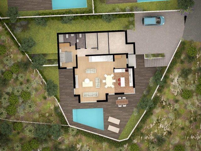 rogoznica dalmatien villa neubau direkt am meer. Black Bedroom Furniture Sets. Home Design Ideas