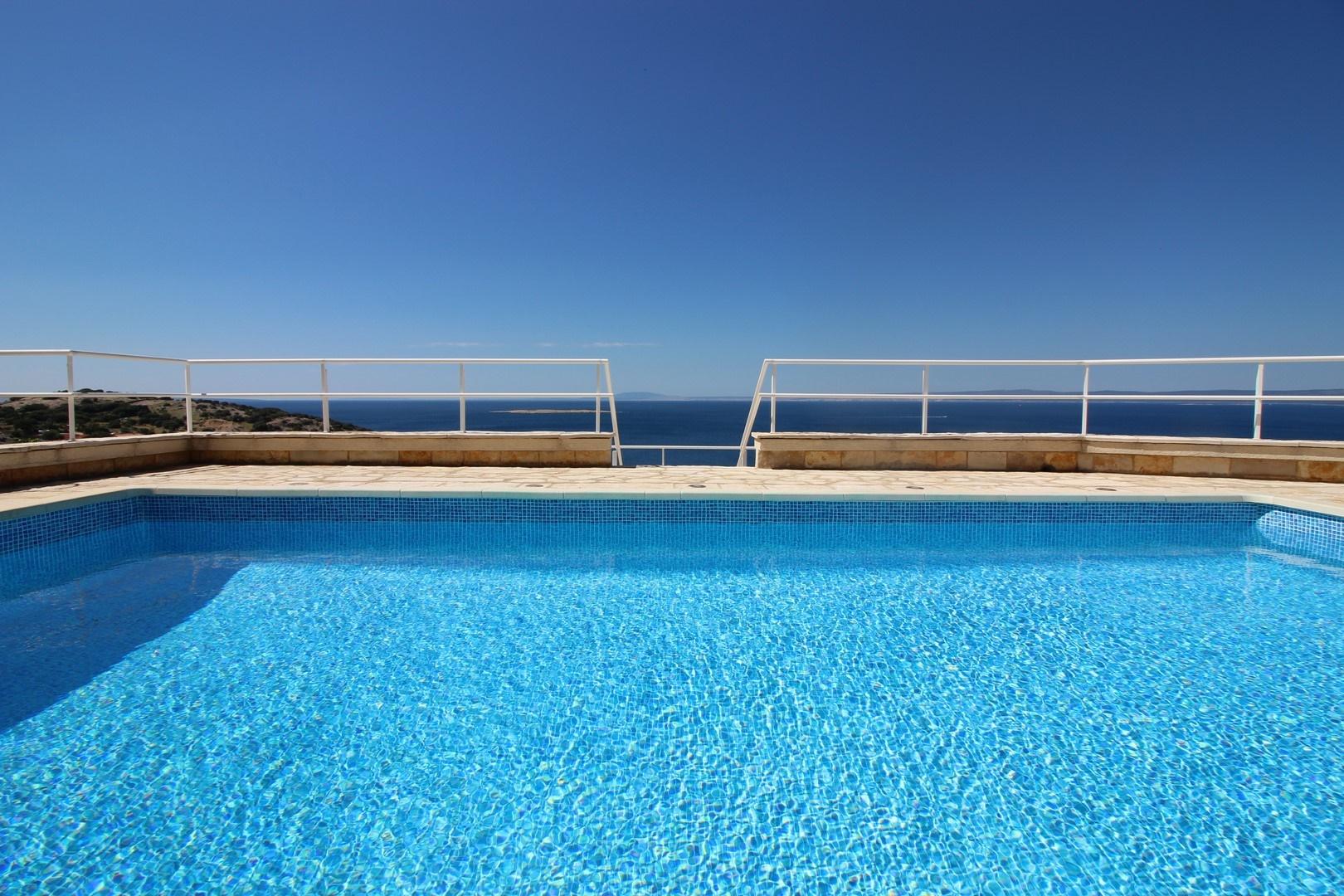 insel krk kvarner bucht villa in panorama lage. Black Bedroom Furniture Sets. Home Design Ideas