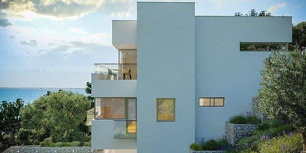 Rogoznica dalmatien moderne villa direkt am meer for Moderne bauweise
