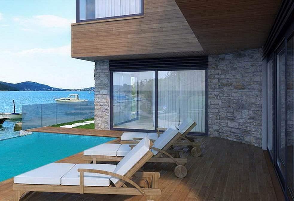 Rogoznica, Dalmatien: neue Villa 1. Reihe Meer