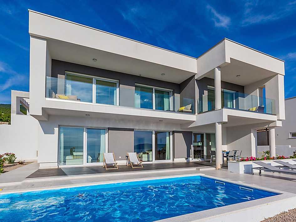 novi vinodolski moderne villa in panorama lage. Black Bedroom Furniture Sets. Home Design Ideas
