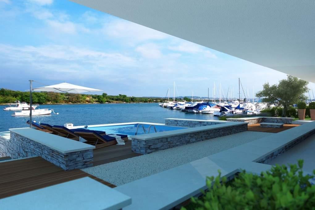 Region Pula, Istrien: Villa Direkt Am Yachthafen