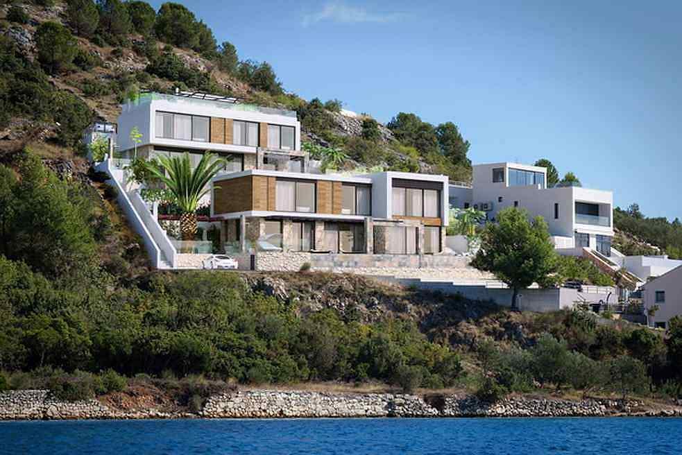rogoznica 2 neue designer villen am meer mit pool On immobilien danemark am meer