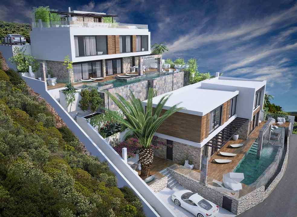 rogoznica 2 neue designer villen am meer mit pool. Black Bedroom Furniture Sets. Home Design Ideas