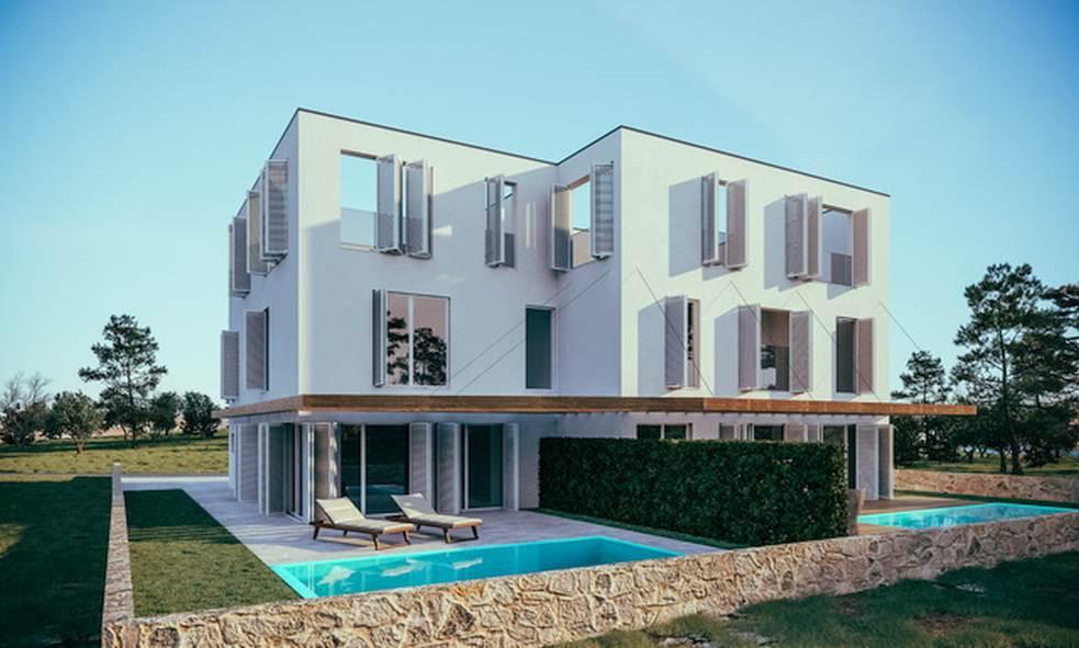 rogoznica dalmatien doppelhaush lften mit pool. Black Bedroom Furniture Sets. Home Design Ideas