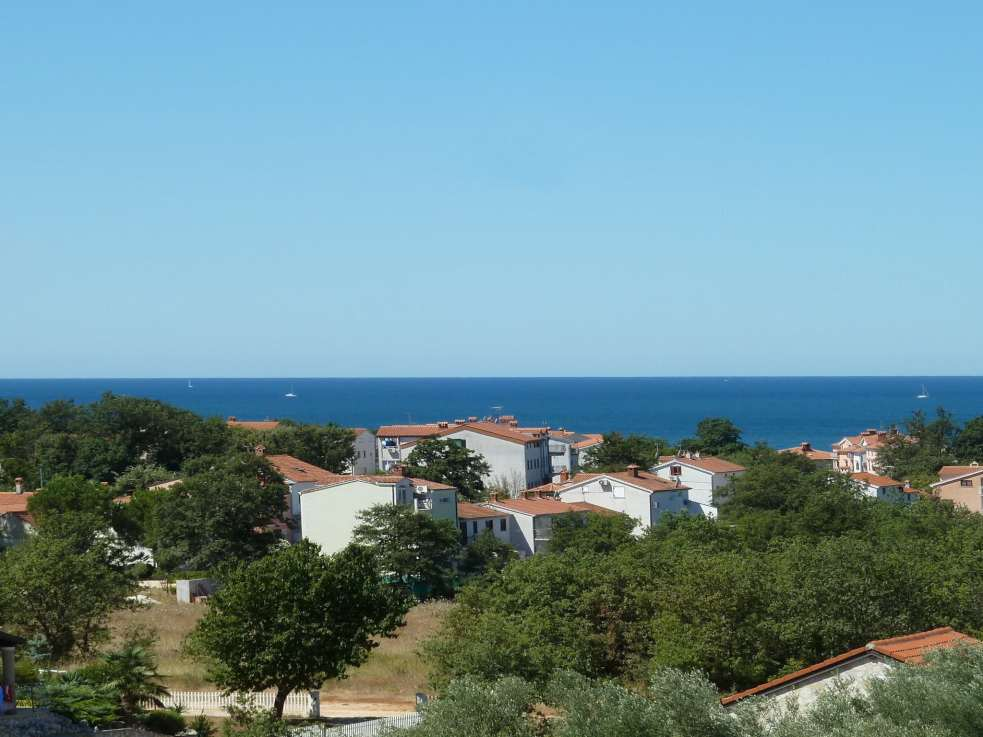 Meerblick des Appartements A681 bei Porec in Istrien, Kroatien.