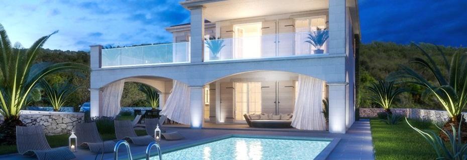 Modernes haus mit pool in deutschland  Immobilien Insel Krk kaufen | Meerblick | Meer | Malinska