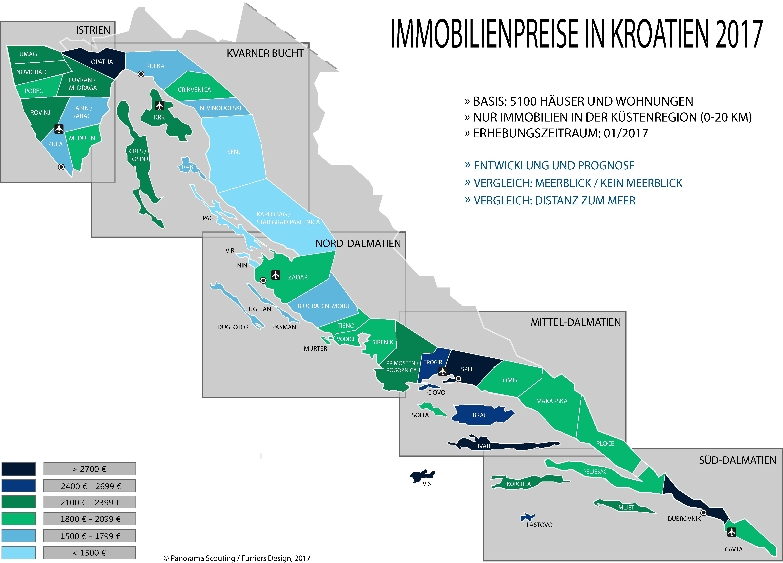 Istrien Karte Zum Ausdrucken.Immobilienpreise In Kroatien 2017 Panorama Scouting